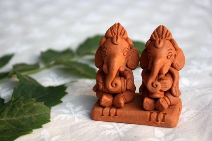 Sri Aurobindo Ashram - Terracotta Ganesha