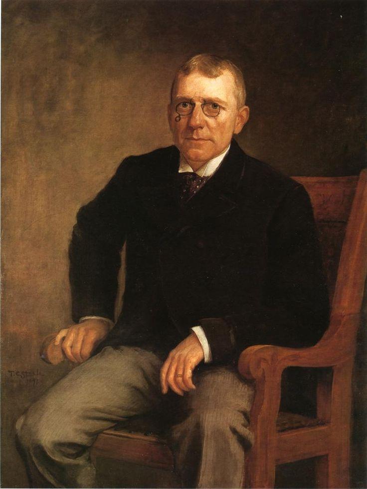 Portrait of James Whitcomb Riley, 1891  T. C. Steele