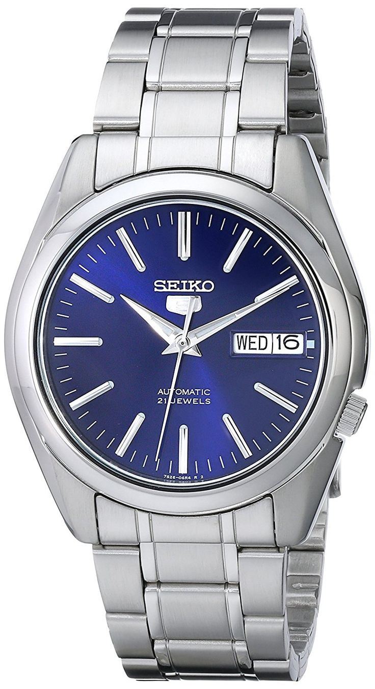 "Amazon.com: Seiko Men's SNKL43 ""Seiko 5"" Stainless Steel Automatic Watch: Clothing"