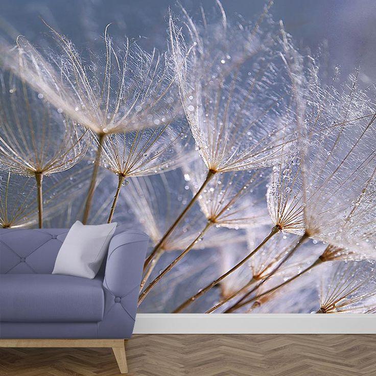 Het fotobehang Dandelion grijs blauw geeft de look die jij zoekt. Het fotobehang is op maat en in diverse typen behang verkrijgbaar. Je krijgt altijd eerst een GRATIS digitale drukproef, zodat je precies kunt zien wat je hebt besteld. #fotobehang #behang #vliesbehang #behangen #vlies #zelfklevend #diy #fotomuur #fotoprint #muur #interieur #dandelion #paardenbloem #bloem #bloemen #grijs #blauw #natuur