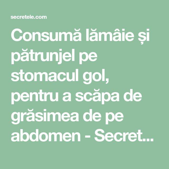 Consumă lămâie și pătrunjel pe stomacul gol, pentru a scăpa de grăsimea de pe abdomen - Secretele.com