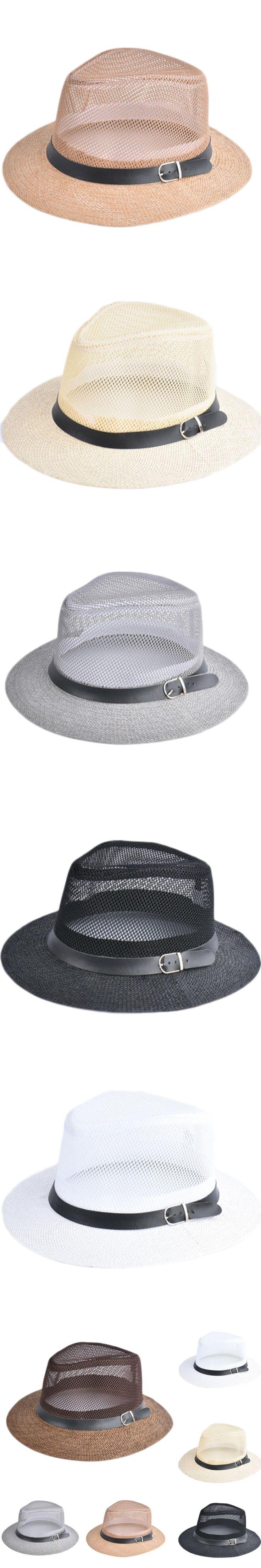 2017 Summer Straw Bucket Hat For Male Jazz Visor Cap For Gentleman Dad Hat Plus Size Mesh Flat Homburg Beach Hat Gorras