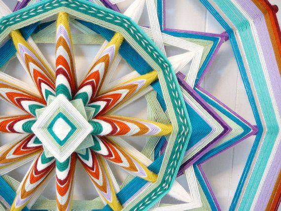 Unbroken Circle an 24 inch 12 sided Ojo de Dios by JaysMandalas