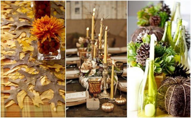 Kilka propozycji jesiennych dekoracji stołu