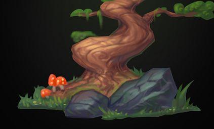 Рисуем дерево за 5 шагов. Урок + видео процесс.
