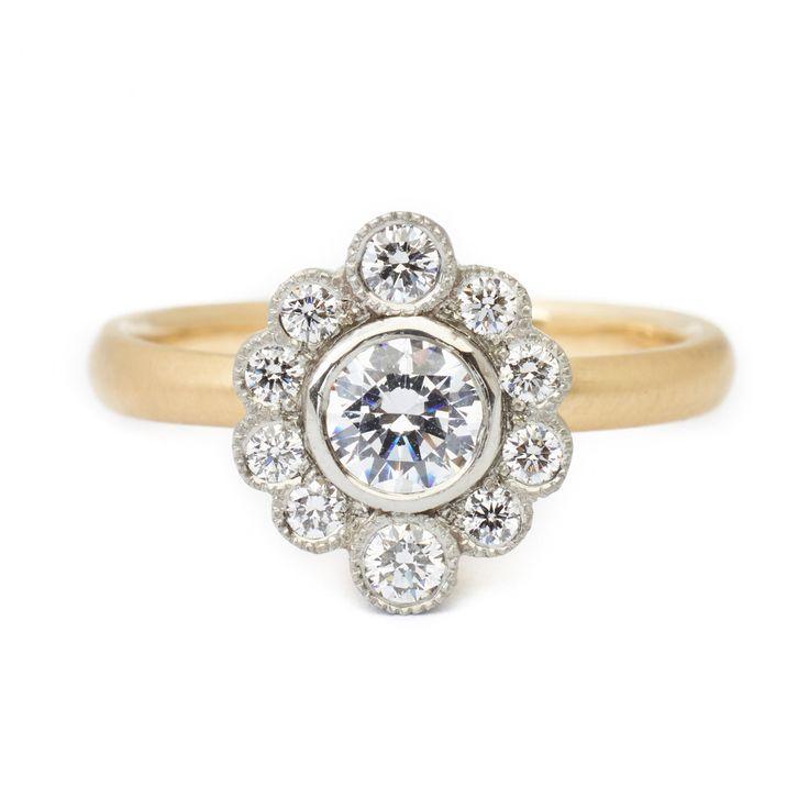 Olivia Scalloped Engagement Ring