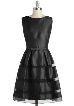 A little more than I'd probably want to spend but it's cute! Dinner Party Darling Dress in Black, #ModCloth