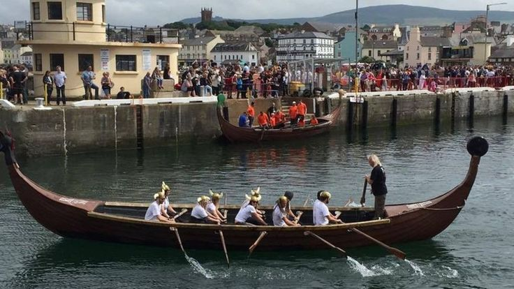 Hundreds of spectators turned out to watch the 54th Viking Longboat World Championships.