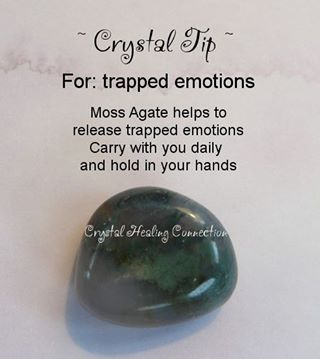 Trapped emotions - moss agate
