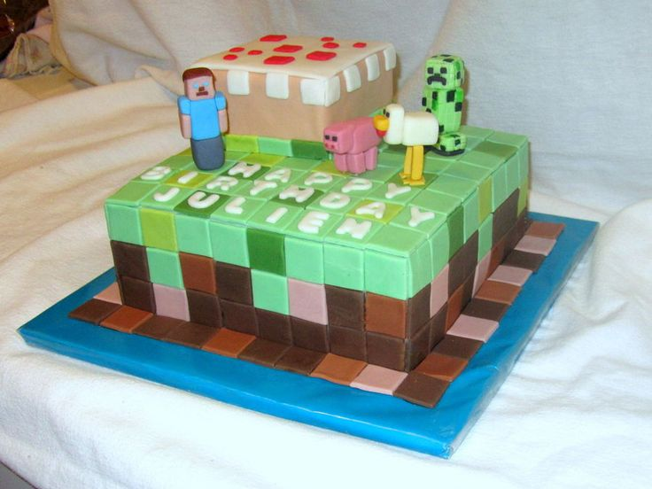 Minecraft cake!! yes please