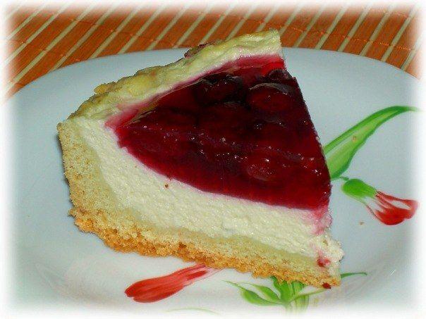 Пирог с творогом и вишневым желе   Рецепты для Вас!