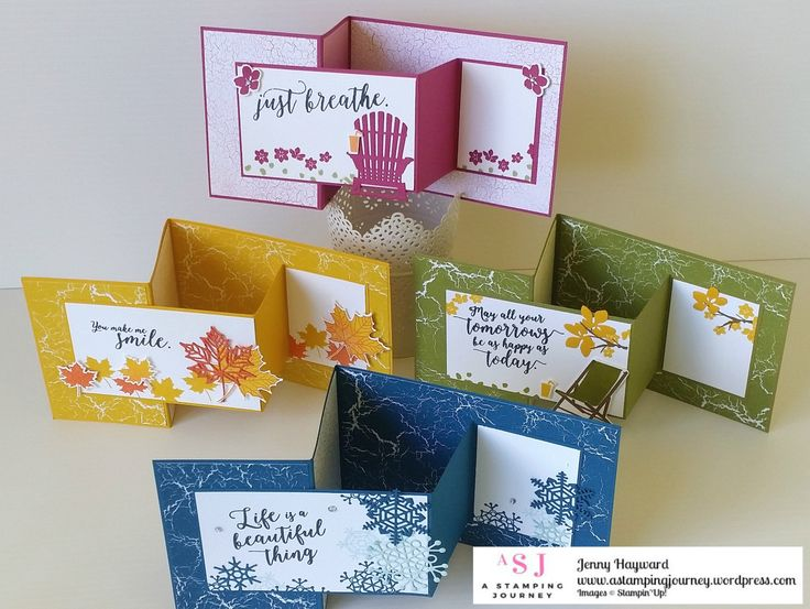 A few weeks back I shared some Z-fold cards using the Colorful Seasons bundle.  They have been HUGELY popular on my blog since.  You can see the original post HERE but these were the cards I shared…
