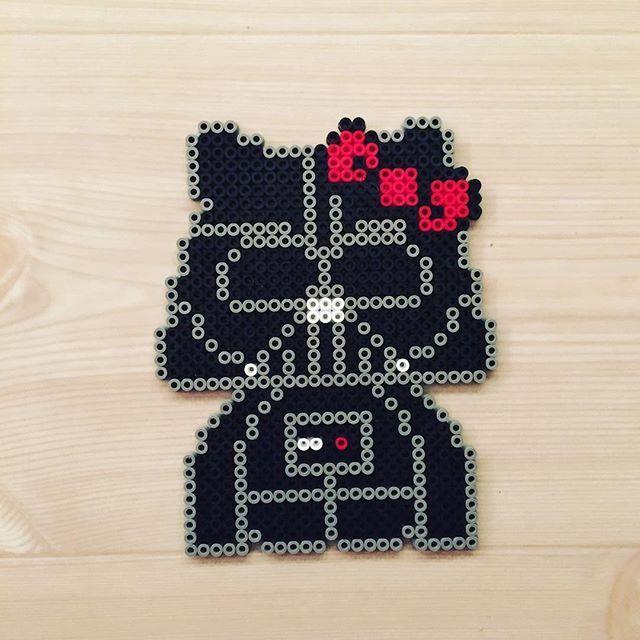 Darth Kitty - Star Wars perler beads by kittybeads