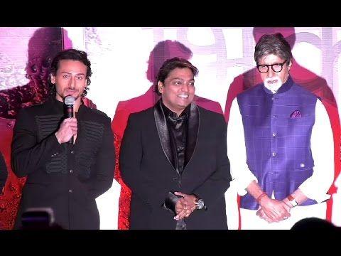 Amitabh Bachchan & Tiger Shroff at the mahurat of marathi film BHIKARI.