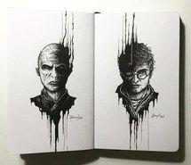 Inspirant de l'image art, noir et blanc, Harry Potter #3853978 par Bobbym - Résolution 500x500px - Trouver l'image à votre goût