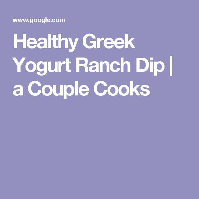 Healthy Greek Yogurt Ranch Dip | a Couple Cooks