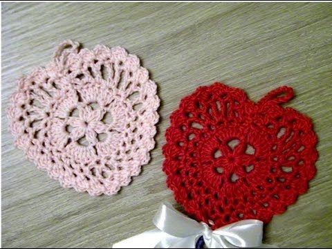 No 108# Serce na szydełku nr 4 - Simply crochet heart nr 4 - YouTube