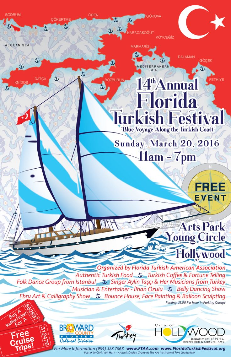 14th Annual Florida Turkish Festival to Take Place on Sunday, March 20, 2016 (11:00 A.M. to 7:00 P.M.) at Arts Park, Young Circle,…