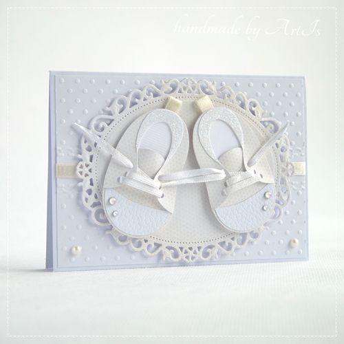 Artis handmade / izabellw - kartki ślubne, okolicznościowe,zaproszenia, pamiątki, albumy, notesy: Trampeczki i KURS !