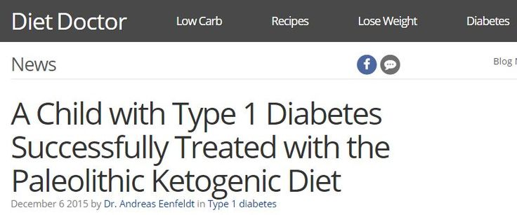 Here's another remarkable success story. A 9-year-old child with type 1 diabetes was put on a very low-carb paleo diet. The result? He no longer needs insulin injections – his body still manages to produce enough insulin by itself – and his blood sugar stays normal.