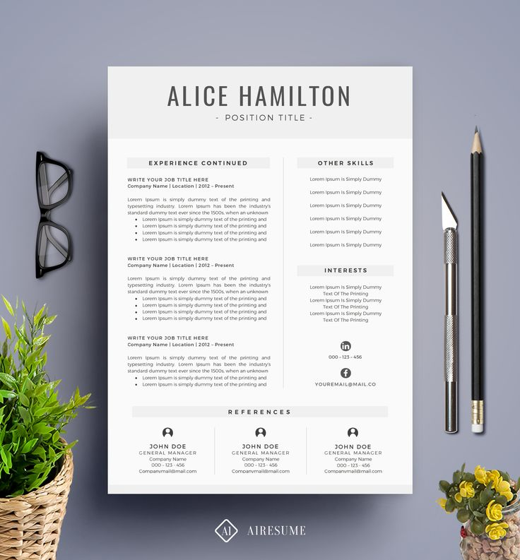 7 best Free Resume Template images on Pinterest Cv template - pretty resume template