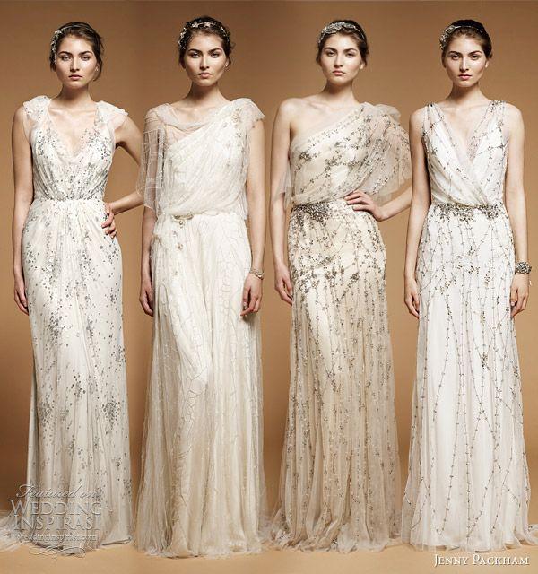jenny packham bridal spring 2012 collection - Callie, Elm, Iris and Astrid wedding dresses