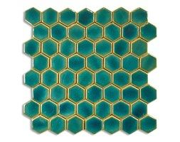 Mozaika sześciokątna, turkus