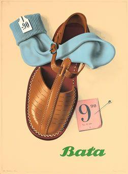 Peter Birkhauser poster: Bata 9.90
