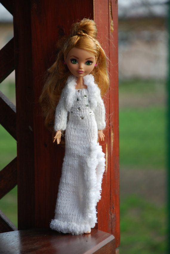 Handmade knit wavy dress for Monster High and Ever by LucieVran