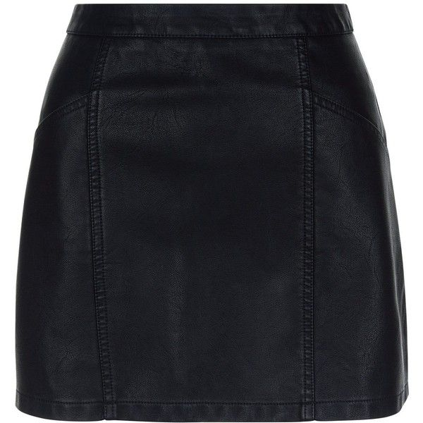 New Look Petite Black Leather-Look Skirt ($24) ❤ liked on Polyvore featuring skirts, saias, bottoms, black, petite skirts, faux leather skirt, vegan leather skirt, fake leather skirt and imitation leather skirt