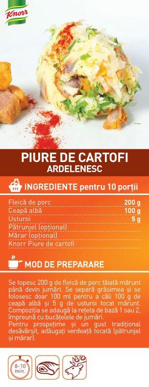 Piure de cartofi ardelenesc - RETETA
