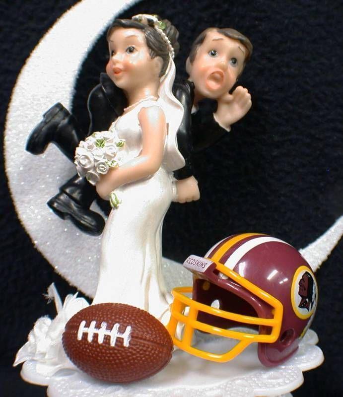 NFL Washington Redskins Football Wedding Cake Topper