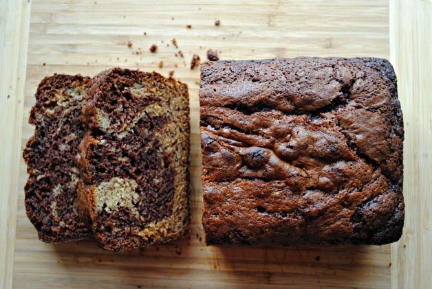 Nutella-Swirled Banana Bread, smelled amazing, tasted good but not as ...