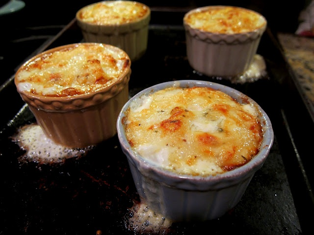 """This is on my menu come fall when I'm willing to heat the kitchen with the oven! """"Individual Potato Gratin 