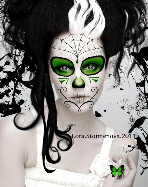 dia de los muertos by pulchra face paint day dead sugar skulls - Halloween Day Of The Dead Face Paint