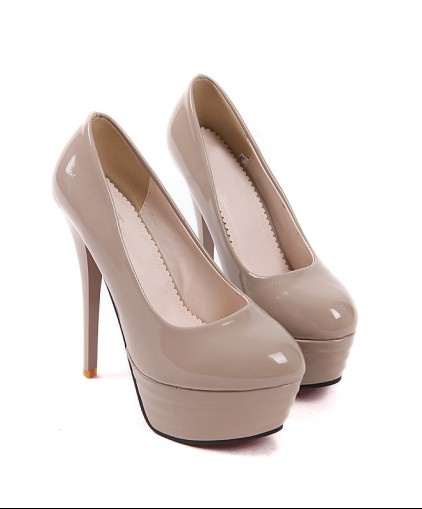 Style Bright Color High Heel Pump Apricot