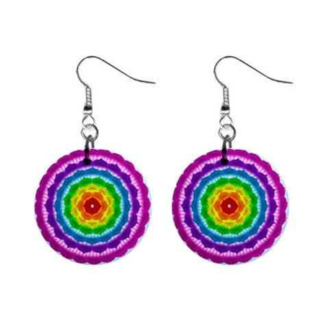Earrings  mandala Chakra - choose your favorite design - by Droomcreaties, €12.50