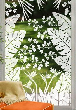 Tropical Oasis See Through Window Film