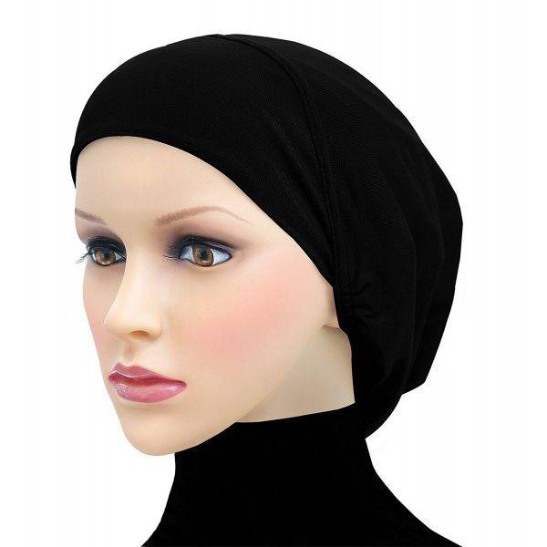 Cotton Beanie Snood Large Hijab Chemo Cap - Black - CS180Q793SN in ... e62dd35c871e
