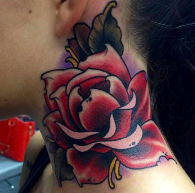 Rosetattoo Tattoo Neck Tattoo Designs For Women The: Best 25+ Rose Neck Tattoo Ideas On Pinterest