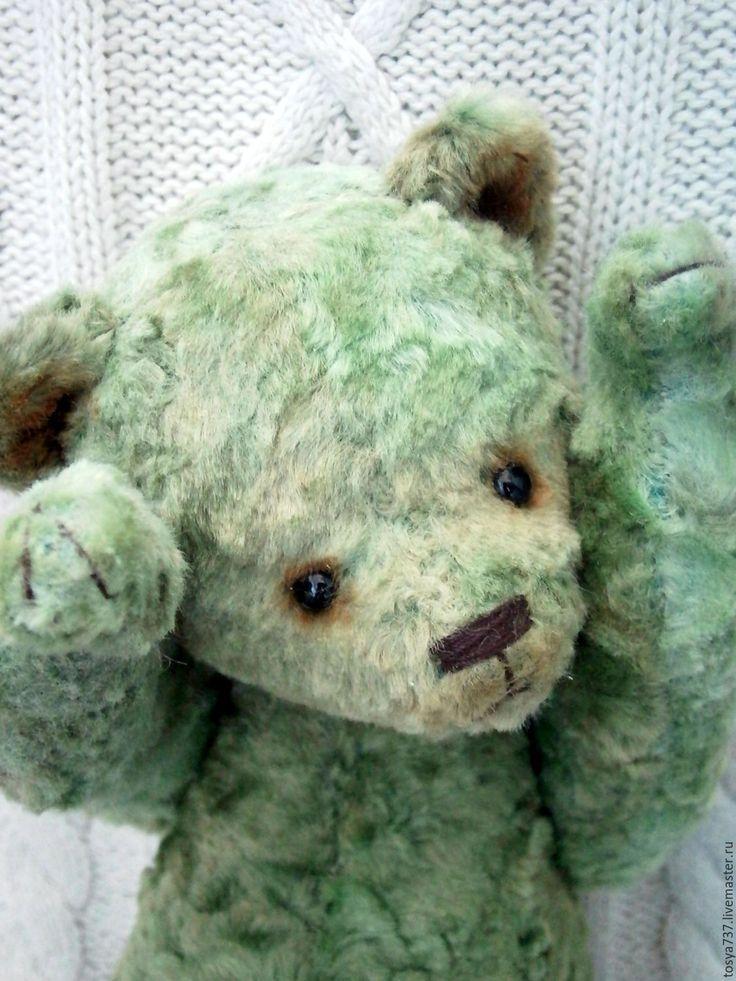 Купить Жора))) - зеленый, мишка, мишка тедд, мишка тедди купить, мишка тедди авторский