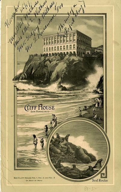 Cliff House Restaurant, San Francisco, 1917 by San Francisco Public Library, via Flickr