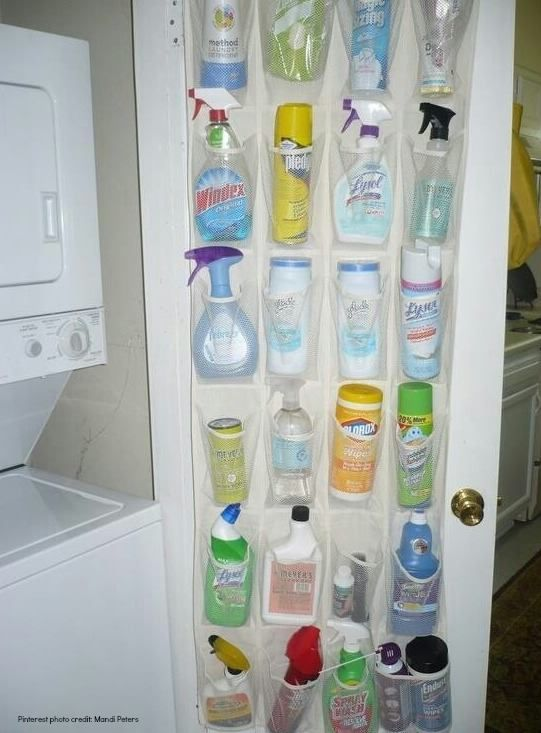 Easy access to cleaning products