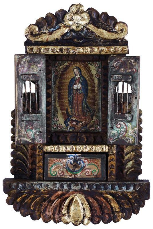 Guadalupe Lady~Cuzco Art Icon Big RETABLO~Santos Original Oil Painting On Canvas