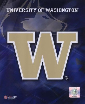 Framed University of Washington Logo Print