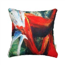 Heliconia Heaven 45cm x 45cm - Double sided cushion Australian made & designed Designs from original artworks www.lillyrockshop.com.au