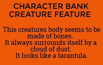 character bank creature feature