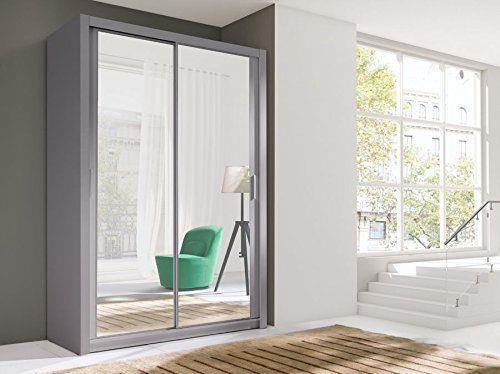 Brand New Modern Bedroom Wardrobe 2 Sliding Door VIGO 150cm in GREY with mirror sold by Arthauss