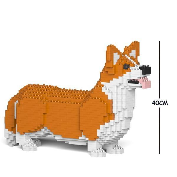 Welsh Corgi Dog Jekca Lego Style Welsh Corgi Corgi Dog Corgi