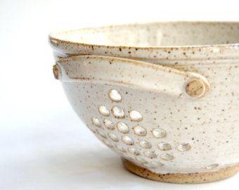 Pottery Berry Bowl Handmade Berry Basket Small by Ningswonderworld